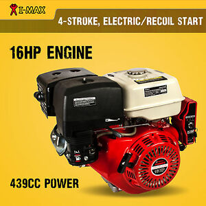 16HP Petrol Engine OHV Stationary Motor Horizontal Shaft Electric Start Recoil