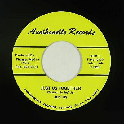 70s Soul Funk 45 - Jus' Us - Just Us Together - Annthonette - VG++ mp3 - rare!