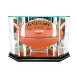 New Full Sized Glass Football Display Case UV NFL NCAA Black Molding FREE SHIP!