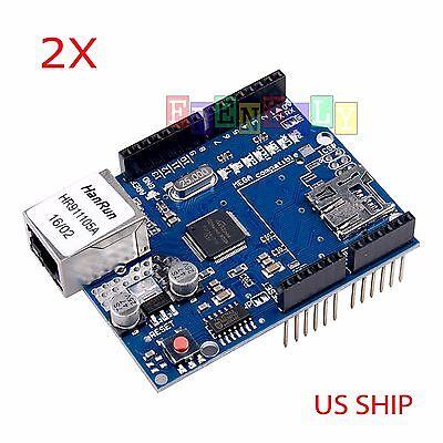 2x Ethernet Shield Lan W5100 For Arduino Board Uno R3 Atmega 328 Mega 1280 2560