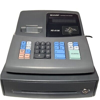 Sharp Xe-a106 Electronic Cash Register Thermal Receipt Printer With Keys Manual