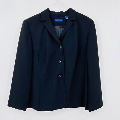 KAREN SCOTT Women's Sz 16W Black Everyday Blazer Jacket Suit Coat D157