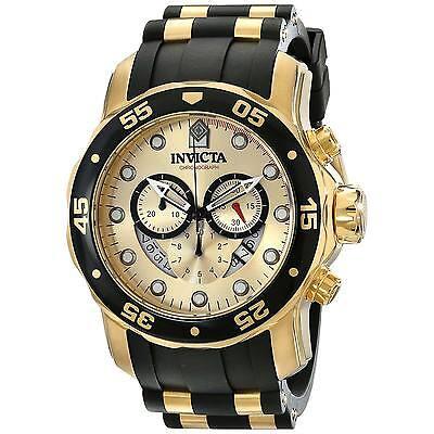Invicta 17566 Men's Pro Diver Gold Tone Dial Chronograph Watch