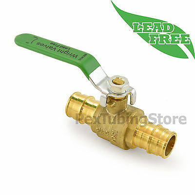 10 34 Propex Style Expansion Lead-free Brass Ball Valves For Pex-a F1960