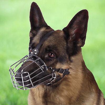 - Dog Muzzle German Shepherd Adjustable Metal Wire Basket For Training L XL