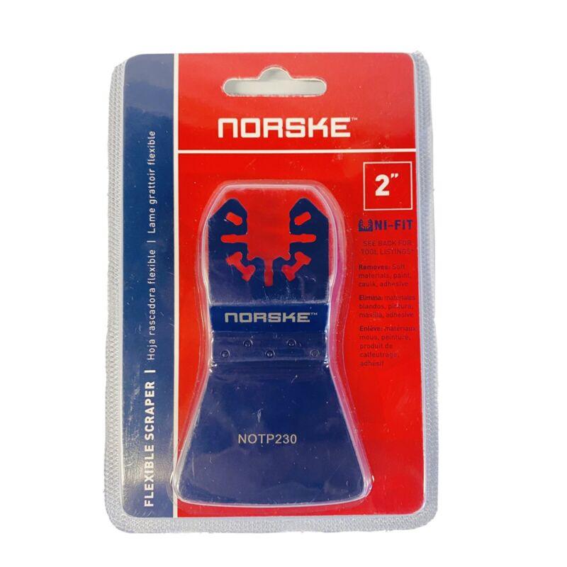 "Norske NOTP230 Flexible 2"" Paint Scraper Oscillating MultiTool Blade Paint Caulk"