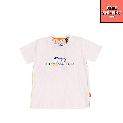 HARMONT & BLAINE JUNIOR T-Shirt Top Size 10Y 140CM Embroidered Logo Regular Fit