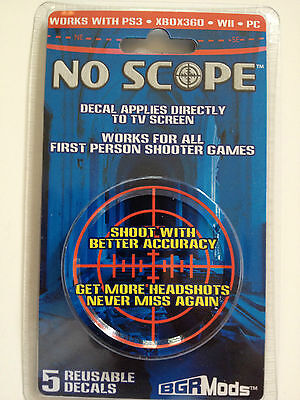 BGRMODS NO SCOPE decal for any TV/Monitor - Must have for COD BLACK OPS II 2