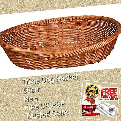 Trixie Dog Basket Dark Wicker 50 Cm/28071 ☆NEW☆TAGS☆FREE P&P☆POWER SELLER☆