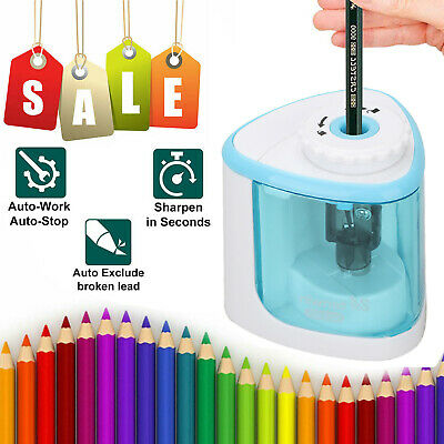 Automatic Electric Pencil Sharpener For Kids Battery Operated Office Home School