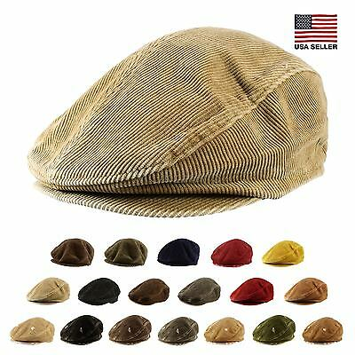 Corduroy Cotton Newsboy Cabbie Cap Hat Mens Womens Unisex Warm Daily Casual  New Corduroy Newsboy Cap