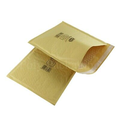 50 x JIFFY GOLD ENVELOPES 240x320mm(Size 4) Padded Mailing Bags Small Parcel