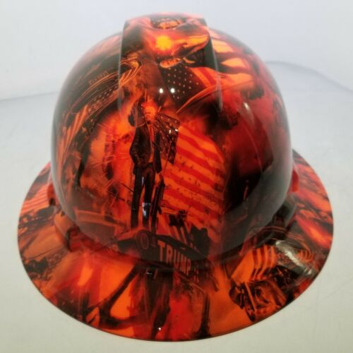 Hard Hat Full Brim Custom hydro dipped DONALD TRUMP APOCALYPSE MAGA best price