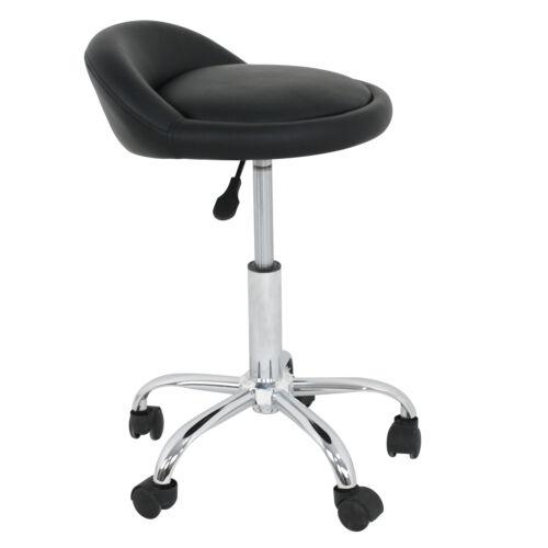 3X Adjustable Salon Stool Hydraulic Saddle Rolling Chair Facial Massage Spa Health & Beauty