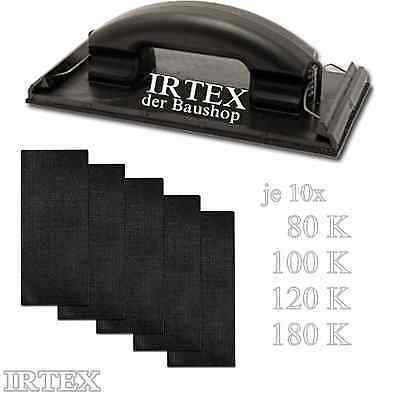40 Schleifgitter Schwarz & Handschleifer Schleifbrett K80 K100 K120 K180 IRTEX