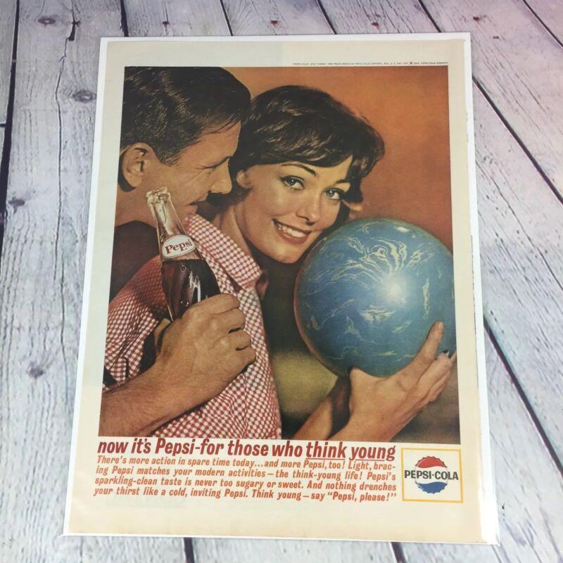Vtg 1963 Pepsi Cola Drink Genuine Magazine Advertisement Print Ad Soda Pop / N2