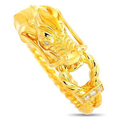 Carrera y Carrera Dragon's Secret XS 18K Yellow Gold 0.03 ct Diamond Ring