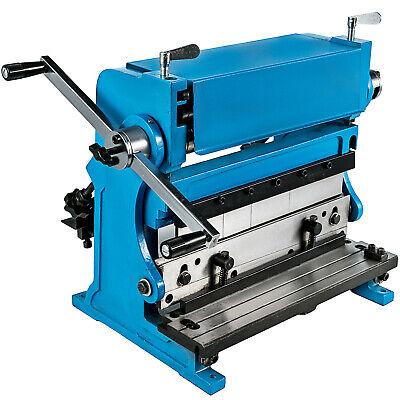 3-in-1 Sheet Metal Shear 12 Metal Brake Folder Slip Roller Machine