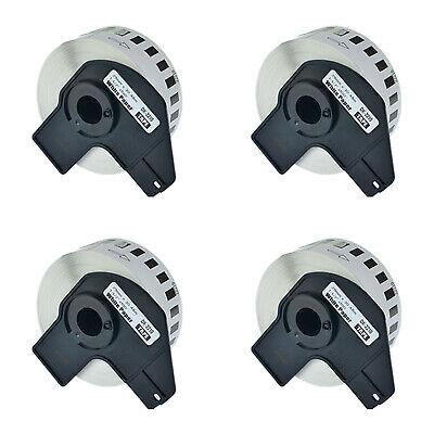 4 Roll Dk-2210 Labels Fits For Brother Ql-500 Ql-550 W4 Premium Permanent Core