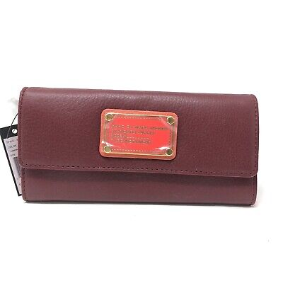 NWT Marc By Marc Jacobs Classic Q Continental Wallet Cabernet Red