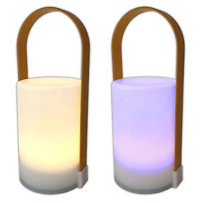 2er Set LED Dekolampe Warmweiß oder Farbwechsel Tischlampe Batteriebetrieben