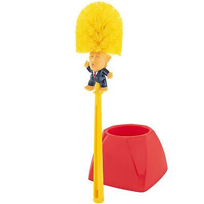 Donald Trump Toilet Bowl Brush W/ Base Perfect White Elephant Gag Political Gift Bath