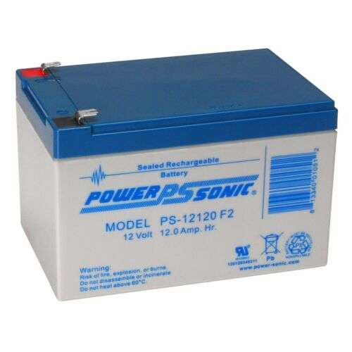 Power-Sonic 12V 12Ah F2 SEALED LEAD ACID AGM DEEP-CYCLE RECHARGEABLE BATTERY