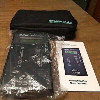 Emfields Acoustimeter Rf Meter Model Am-10 Emf Rf Microwave Detectormeter