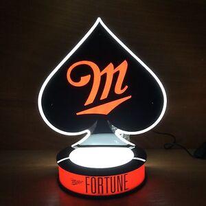 Miller-Fortune-Spade-LED-L-E-D-Opti-Neon-Beer-Light-Bottle ...