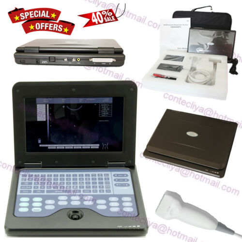 Portable Laptop Machine Digital Ultrasound Scanner 7.5m Linear Probe 3y Warranty