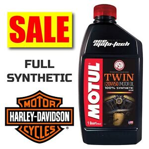 ★ SALE ★ Motul V-Twin 100% FULL SYNTHETIC 20W50 Motorcycle Oil