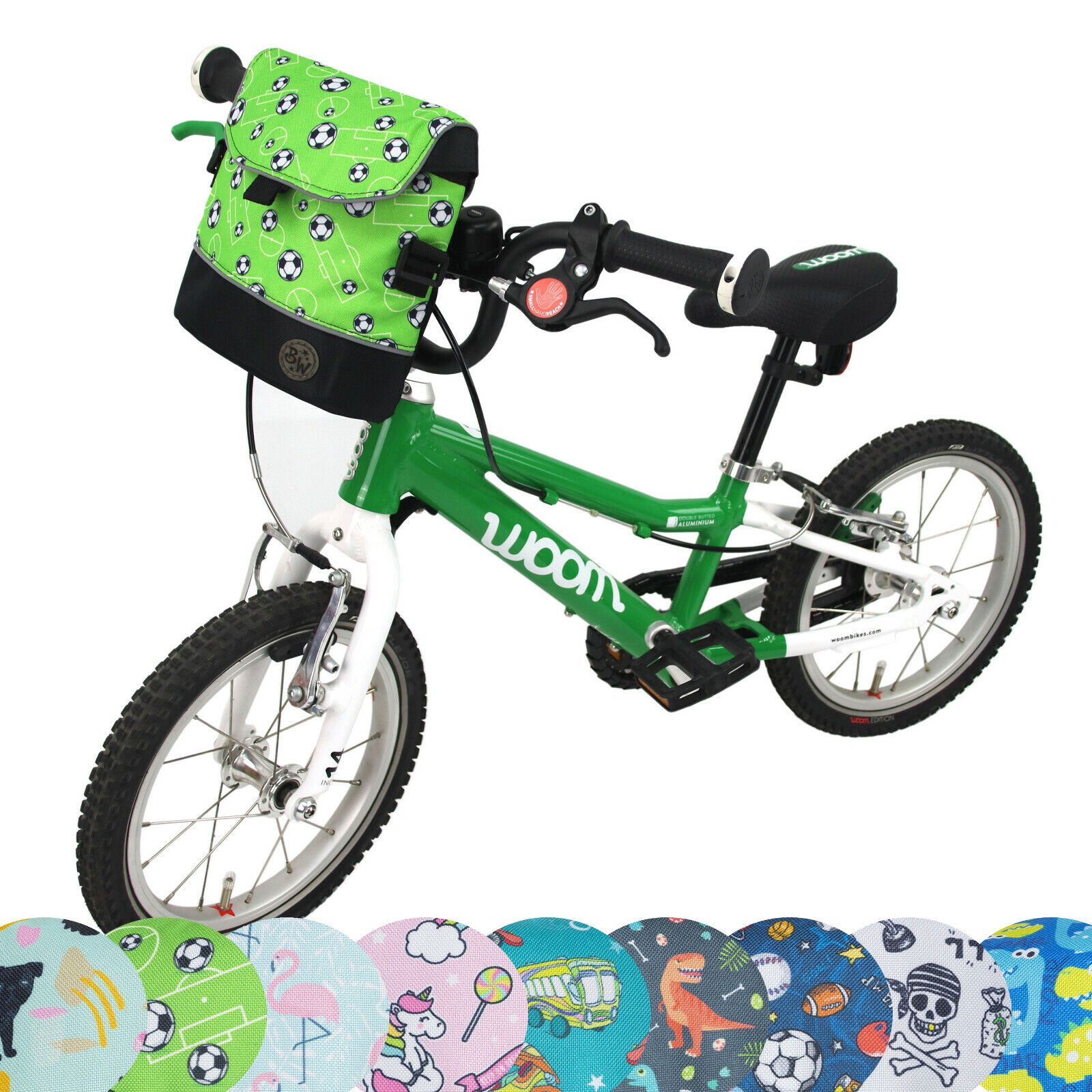 BAMBINIWELT Lenkertasche für Woom Fahrrad Roller Scooter Kinder Fahrradtasche