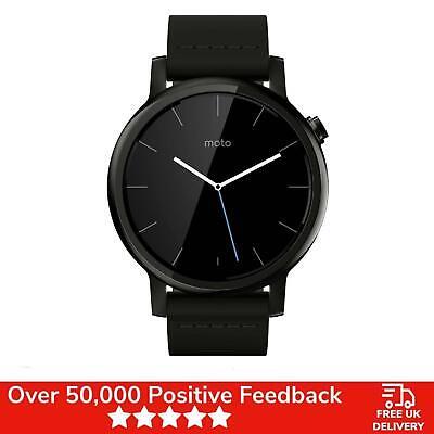 Moto 360 2nd Generation Smartwatch 42mm Motorola Black Leather - Brand New