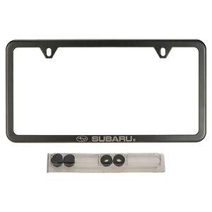 OEM 16-18 Subaru Slim Line License Plate Frame Matte Black WRX STi SOA342L153