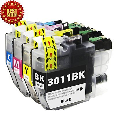 4PK LC3011 LC-3011 Ink Cartridge for Brother MFC-J491DW MFC-J497DW/J690DW/J8950D Cyan Compatible Inkjet Ink