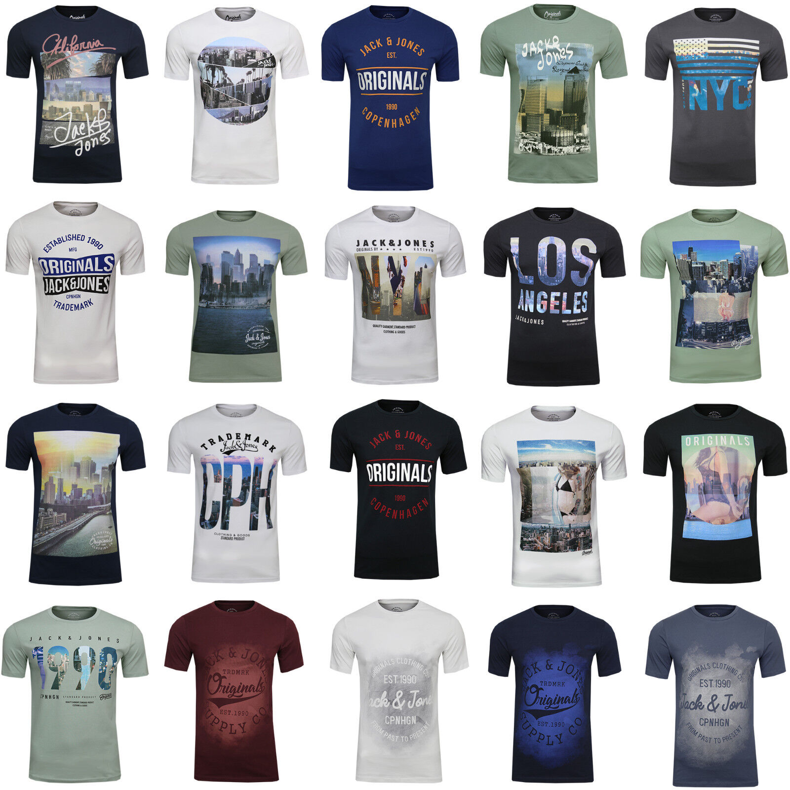 Jack /& Jones Herren T-Shirt Jcobooster Tee Freizeit Kurzarm Rundhals UVP 14,95 €
