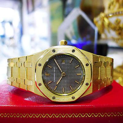 Audemars Piguet Royal Oak 18K Yellow Gold 31mm Grey Dial Watch Ref: C94711