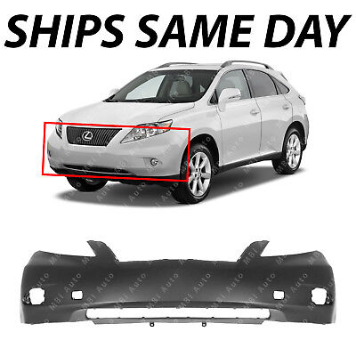 11 Replacement Cover (NEW Primered Front Bumper Cover Replacement for 2010 2011 2012 Lexus RX350)