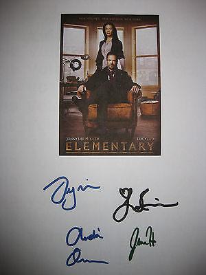 Elementary Signed TV Script X4 Jonny Lee Miller Lucy Liu Aidan Quinn Hill reprnt