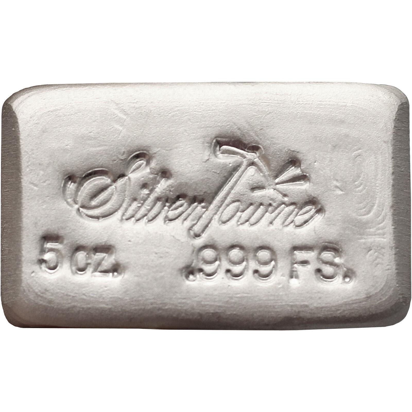 SilverTowne Hand-Poured 5oz .999 Fine Silver Bar