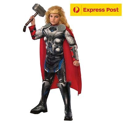 Thor Child Superhero Costume Book Week Deluxe Size Small 3-5Y 95-115cm Height](Thor Costumes For Girls)