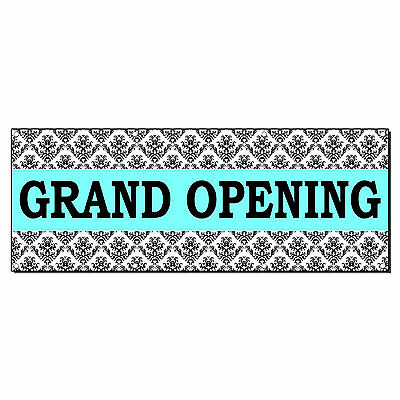 Grand Opening Turquoise Business 2 Ft X 4 Ft Banner Sign W4 Grommets