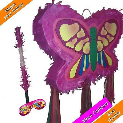 Butterfly Pinata smash Birthday Party colourful colours dragonfly girls kids - Butterfly Pinata