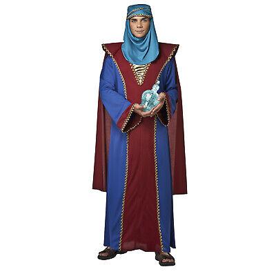 Adult Men's Biblical Wise Man Arabian Christmas Play Costume Gown Head Scarf