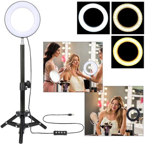 "6"" LED Ring Light with Tripod Mini Makeup Lamb For selfie Beauty Youtube Video"