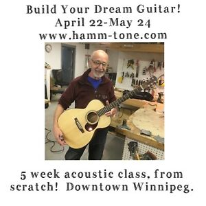 Acoustic Guitar Making Course- Accepting Students