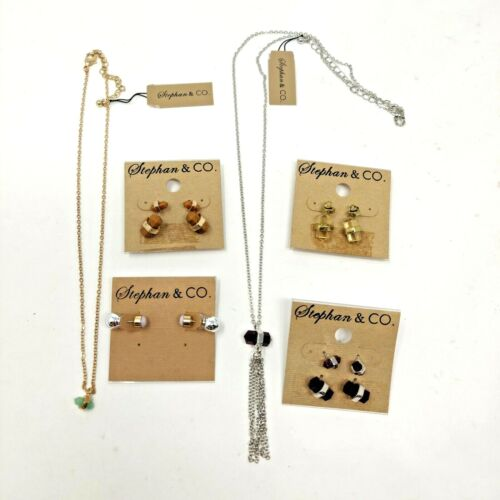 Wholesale lot of 9 Stephan & Co. Cute Bullet Shaped Stud Earrings Necklaces SMP