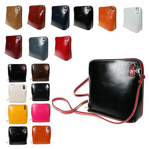 Pelle Small Real Genuine Italian Cross Body Leather Bag Sb Ebay
