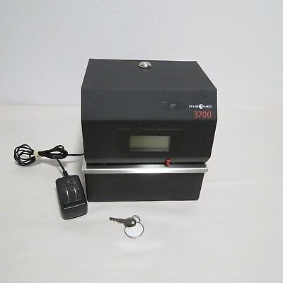 Pyramid 3700 Heavy Duty Steel Time Clock And Document Stamp - Slight Marks