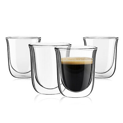 Double Wall Espresso Cup - JoyJolt Javaah Double Wall Insulated Glasses, 2 Ounce Set of 4 Espresso Cups